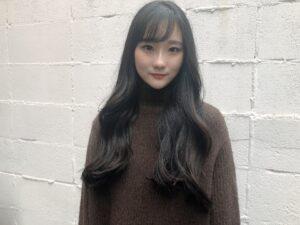 韓国風カールのロングスタイル